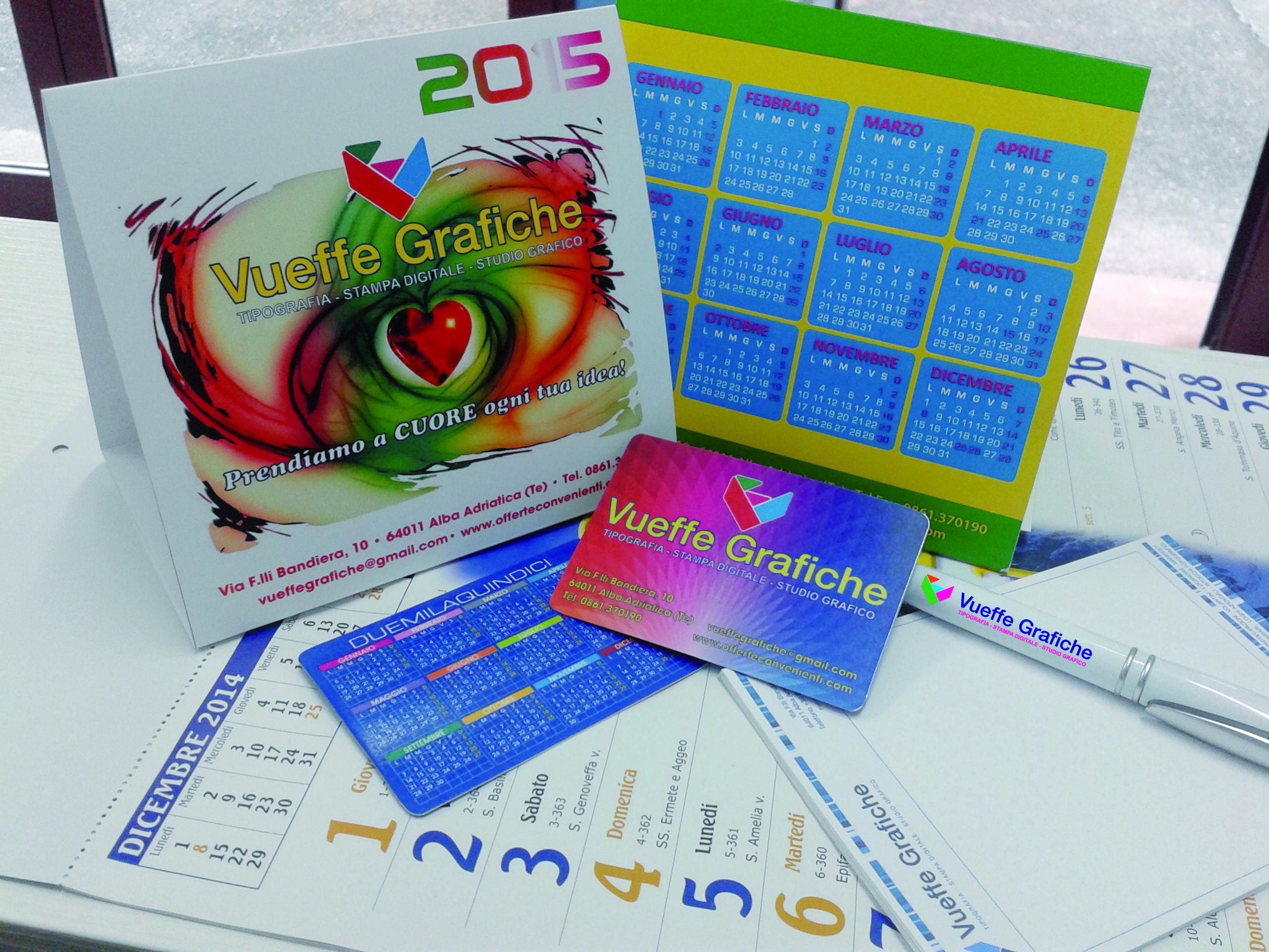 Vueffe grafiche tipografia calendari personalizzati for Parati plastificati