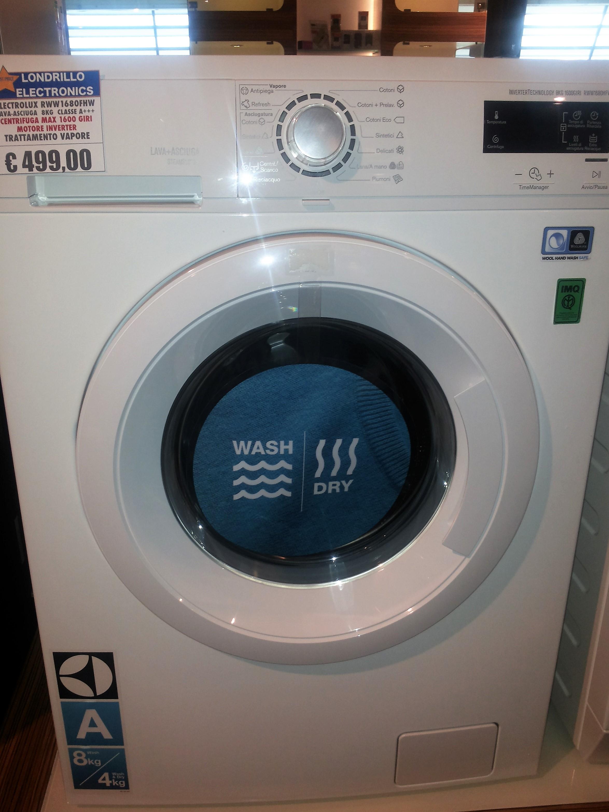 londrillo electronics elettronica lavatrice electrolux