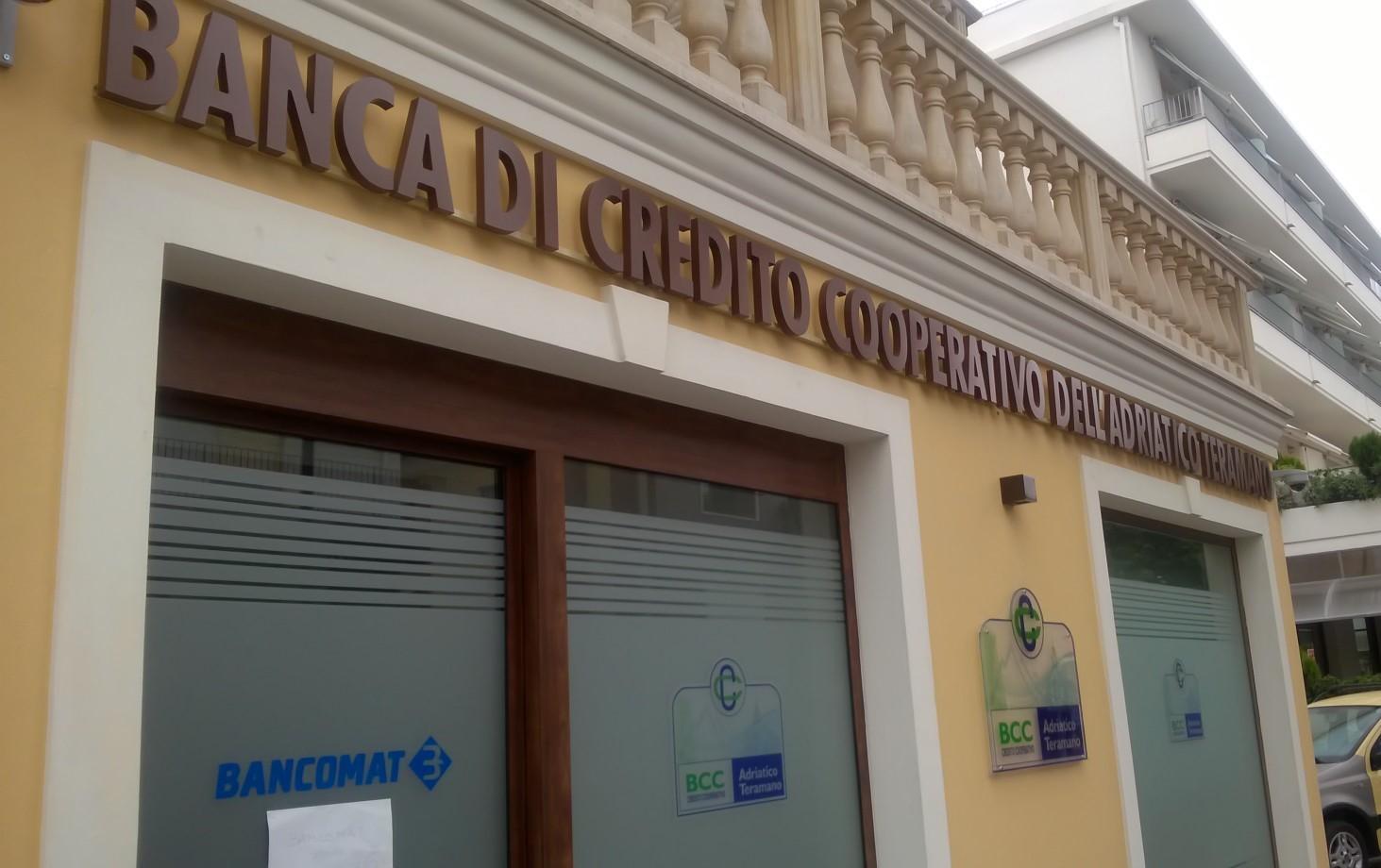 insegna vetrofania banca di credito cooperativo dell